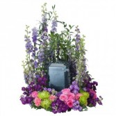 Forever Cherished Blue Urn Surround Arrangement