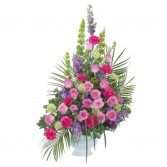 Forever Cherished Crescent Spray - As Shown (Delux Spray