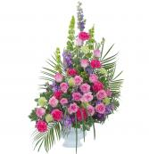 Forever Cherished Crescent Spray Memorial Arrangement