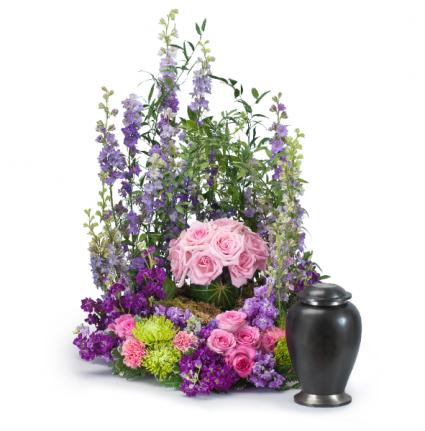 Forever Cherished Rose Urn Memorial Arrangement