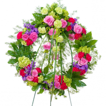 Forever Cherished Wreath Standing Spray