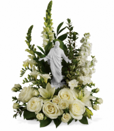 Forever Faithful Bouquet One-Sided Floral Arrangement