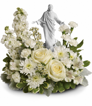 Forever Faithful Bouquet One-Sided Floral Arrangement in Winnipeg, MB | KINGS FLORIST LTD