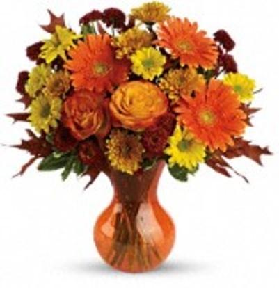 Forever Fall Flower Arrangement In Ridgecrest Ca The Flower Shoppe