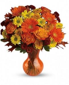 Forever Fall Fresh Arrangement in Storrs, CT | THE FLOWER POT