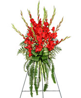 FOREVER FLAME Funeral Flowers Spray