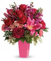 Forever Fuchsia Bouquet Holiday Arrangement