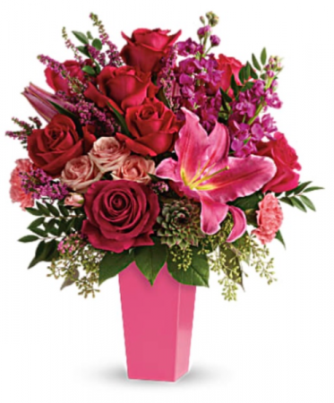 Forever Fuchsia Bouquet Holiday Arrangement