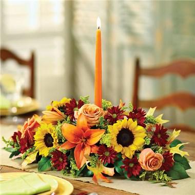 Forever Grateful Centerpiece Singlr Candle Centerpiece
