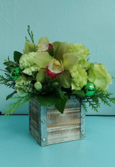 Forever Green Flower Arrangement