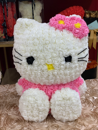 Forever Hello Kitty Sitting White  Rose Hello Kitty