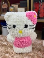 Forever Hello Kitty Standing White  Rose Hello Kitty