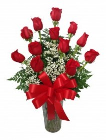 Forever in Love Dozen Rose Arrangement