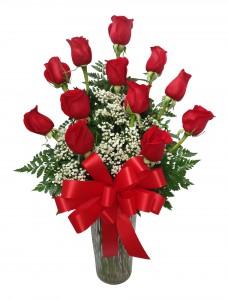 Forever in Love Dozen Rose Arrangement