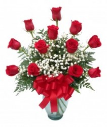 With Love Classic Dozen Rose Arrangement