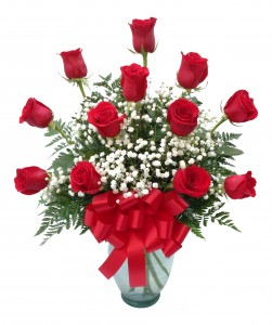 Forever Loved Classic Dozen Rose Arrangement