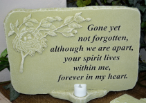 FOREVER IN MY HEART STONE SYMPATHY STONE