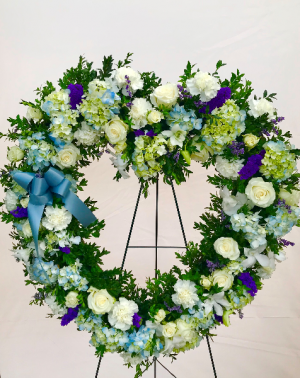 Forever in our Hearts Funeral Wreath, Funeral Flowers in Medfield, MA | Lovell's Florist, Greenhouse & Nursery