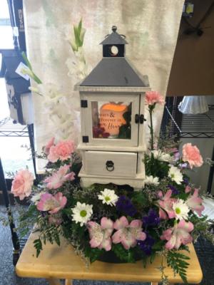 Forever in our hearts Keepsake lantern  in Fairfield, OH | NOVACK-SCHAFER FLORIST