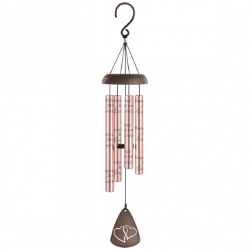 Forever in our hearts Rose gold Windchimes