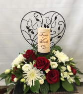 Forever In Our Hearts  Sympathy Arrangement