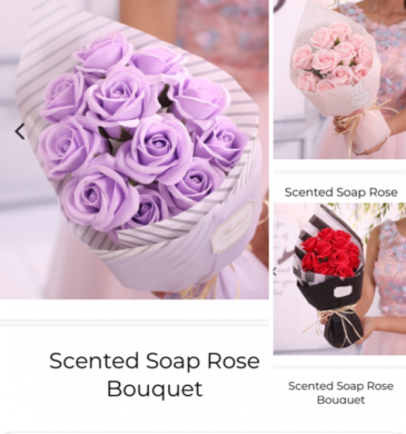 Forever lasting soap roses  Everlasting hand crafted silk roses dipped in fragrant soap for the person who hates to see their flowers faid away .