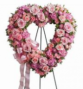 Forever Loved Heart Funeral Wreath