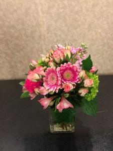 Pink Spring Rectangle pink arrangement