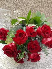 """Forever Mine"" wrapped roses"