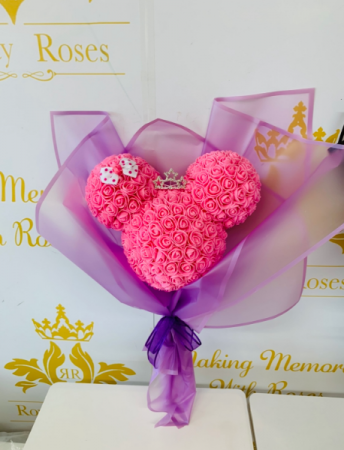 Forever Minnie Mouse Bouquet Pink Rose Minnie Bouquet