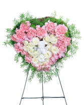 Forever Our Angel Standing Heart Sympathy Arrangement