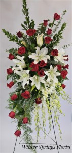 Forever Peace  Standing Spray  in Winter Springs, FL | WINTER SPRINGS FLORIST AND GIFTS