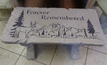 Forever Remembered Cement Garden Bench