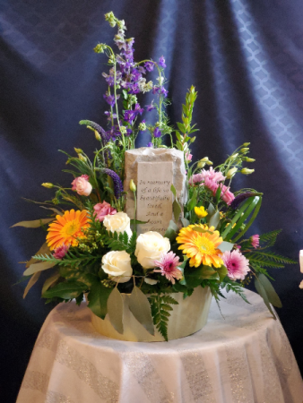 Forever Remembered Keepsake with Flowers