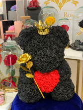 Forever Rose Teddy Bear Black Rose Teddy Bear