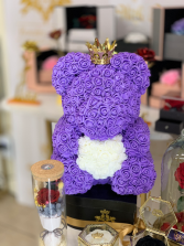 Forever Rose Teddy Bear Purple Rose Teddy Bear