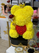 Forever Rose Teddy Bear Yellow Rose Teddy Bear