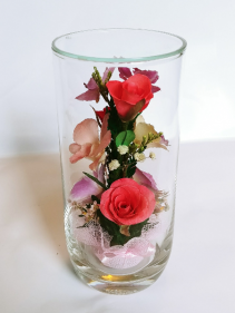 Forever Roses #CMIXED Forever Roses arranged in sealed glass **SOLD OUT**