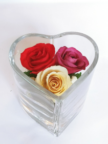 Forever Roses #HCMIXED Forever Roses arranged in sealed glass
