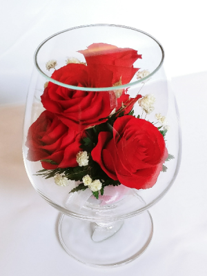 Forever Roses #WGRED Forever Roses arranged in sealed glass **SOLD OUT** in Vancouver, BC | ARIA FLORIST