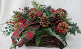 Forever Woodland Basket Permanent Arrangement by Inspirations Floral Studio