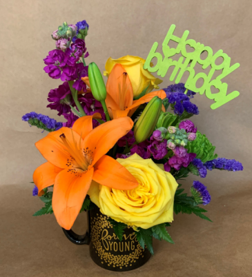 Forever Young Birthday Mug Bouquet