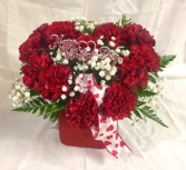 Forever Yours  Carnations arranged in heart shape
