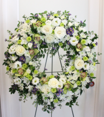 FORGET ME NOT FUNERAL WREATH