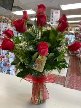 You're Always On My Mind One Dozen Long Stems Ecuadorian  Roses