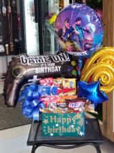 FORTNITE Birthday Bash Box Birthday Box of Goodies and Balloons