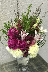 Forward Fuchsia Bouquet Vased Arrangement