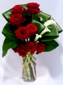 FOUNTAIN OF LOVE - Roses & Calla Lillies Roses from your local florist and flower Shop Prince George BC