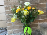 Four Seasons of Yellow Sympathy flowers