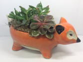 Fox Succulent Planter